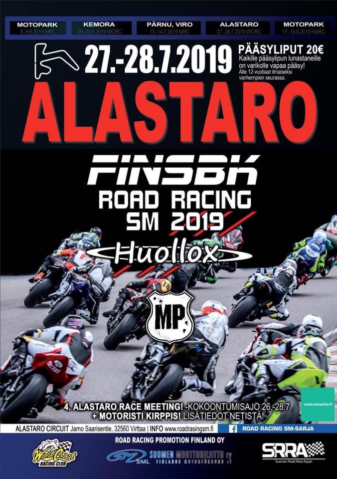 Niki Tuuli mukana 27.-28.7.2019  Alastaron Road Racing SM kilpailussa