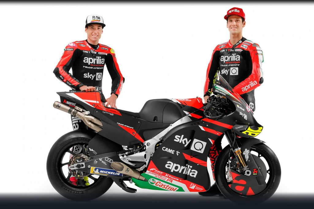 MotoGP tiimien esittelyssä Aprilia Racing Team Gresini