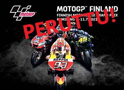2021 MotoGP:n suomen osakilpailu KymiRing:llä on peruutettu