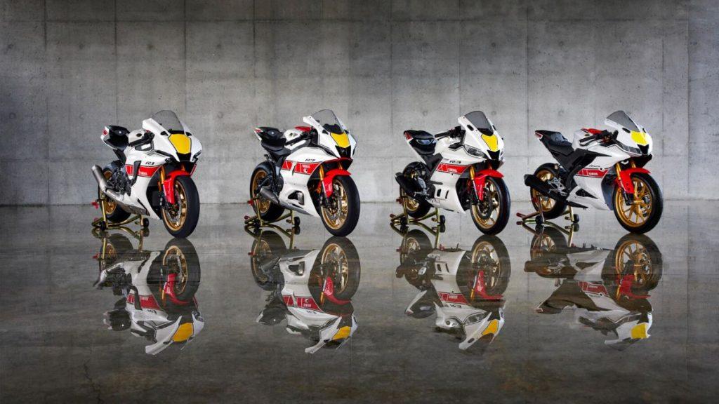 Yamahan 2022 R-sarjan mallit juhlistavat Yamahan Grand Prix -kilpailuhistoriaa